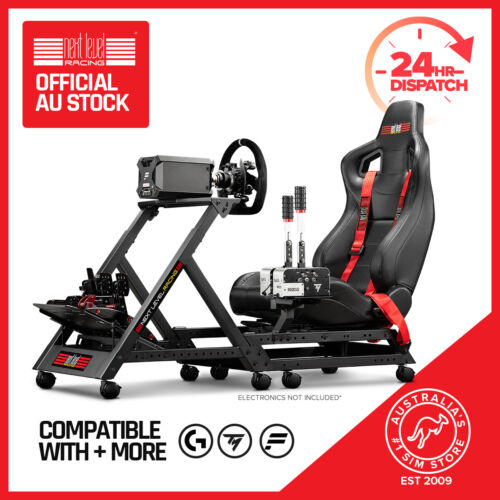 Next Level Racing GTtrack Simulator Racing Cockpit for Thrustmaster, Fanatec