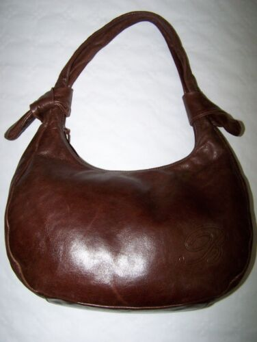 """BORSA """"BLUMARINE"""" SHOULDER LEATHER BROWN BAG MADE IN ITALY 100%"""
