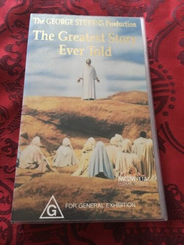 THE GREATEST STORY EVER TOLD - MAX VON SYDOW - VHS VIDEO
