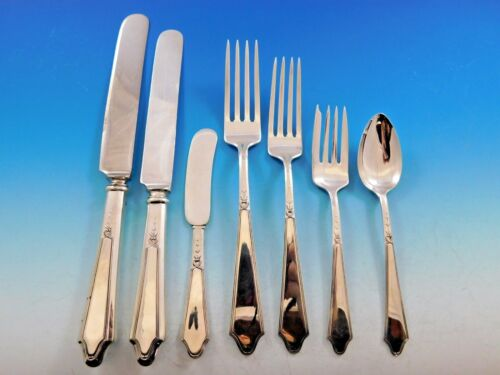 Chateau by Lunt Sterling Silver Flatware Set for 12 Service 89 Piece Dinner Size