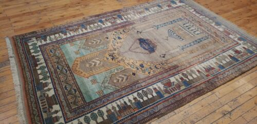 Exquisite Cr1900-1939s  Muted Natural Dye Yahyali Prayer Rug 4x6ft