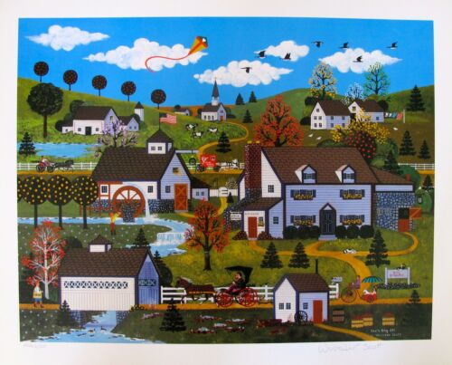"""Jane Wooster Scott """"DOC'S DAY OFF"""" Hand Signed Limited Edition Art Lithograph"""