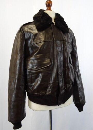 Vintage 1960's A-2 Bomber Jacket Made In The USA 46R XL LD134
