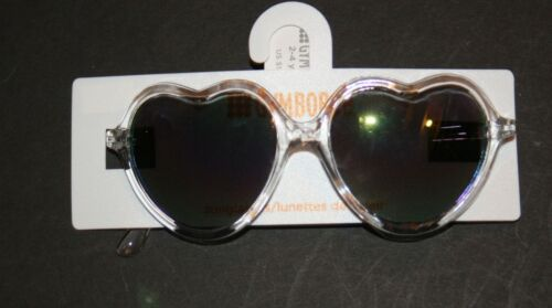 New Gymboree Girls Clear Heart Shaped Sunglasses Toddler 2-4 year