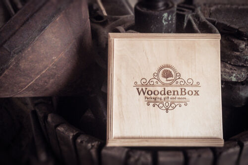 10 pz Wooden Box: scatola in legno per packaging con pendrive usb 3.0
