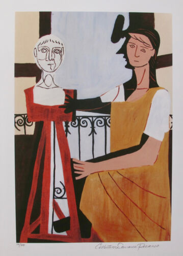 Pablo Picasso WOMAN WITH SCULPTURE Estate Signed Ltd Edition Giclee Medium Size