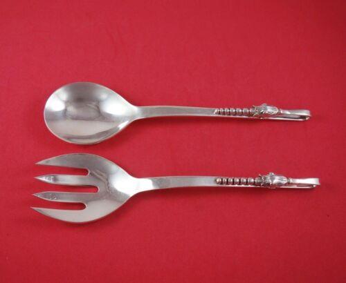 """Blossom by Sanborns Mexican Sterling Silver Salad Serving Set 2pc 7.1ozt. 8 1/2"""""""