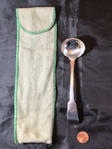 Antique Georgian 1824 Sterling Silver Toddy Ladle by James Hobbs, London w/ Mono