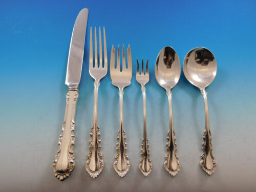 Georgian Rose by Reed & Barton Sterling Silver Flatware Service Set 54 Pieces
