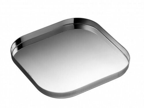 K+T by Christofle Paris France Silver Plated Square Tray New