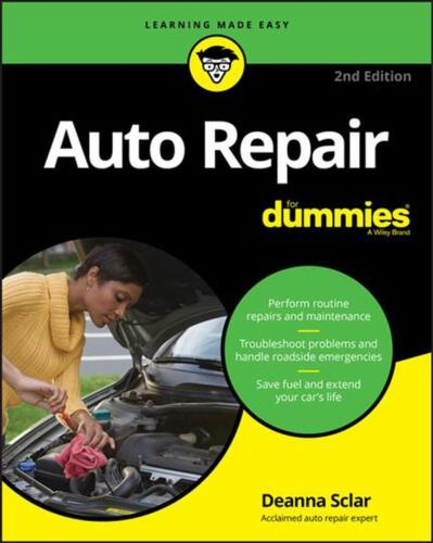 Auto Repair for Dummies, 2nd Edition by Deanna Sclar Paperback Book Free Shippin