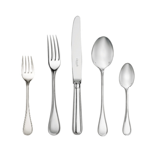 Albi by Christofle Paris France Silver Plate Flatware 5 Piece Place Setting New