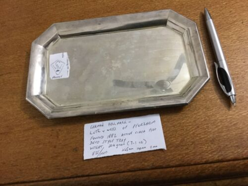 Lutz And Weiss 835s Silver Tray