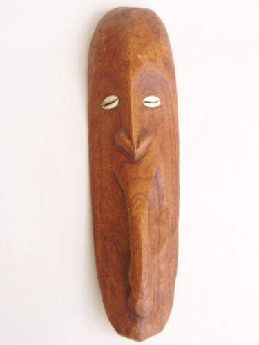 PNG WOODEN CARVED TRIBAL MASK - 440mm long