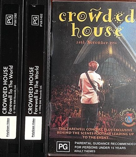 VHS Video TAPE Crowded House Farewell to the World Sydney Opera House