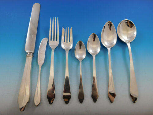 Clinton by Tiffany and Co Sterling Silver Flatware Set 12 Service 98 pcs Dinner
