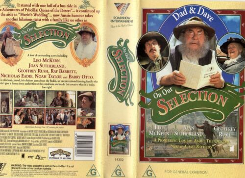 DAD AND DAVE ON OUR SELECTION -VHS -PAL -NEW -Never played! -Original Oz release