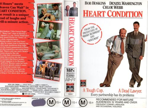 HEART CONDITION - Bob Hoskins VHS -PAL -NEW -Never played!! -Original Oz release