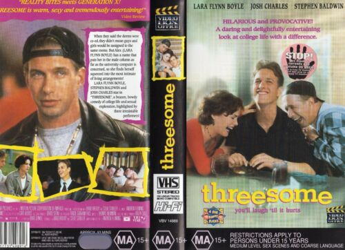 THREESOME - Lara Flynn Boyle -VHS - PAL -NEW -Never played! -Original Oz release