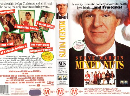 MIXED NUTS - Steve Martin -VHS - PAL - NEW - Never played! - Original Oz release
