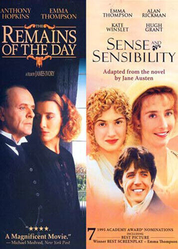The Remains of the Day / Sense and Sensibility (1995) (2 Disc) DVD NEW