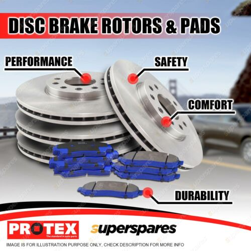 DIMPLED SLOTTED FRONT DISC BRAKE ROTORS for Honda Civic Sport FD 2.0L 2006-12