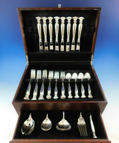 Romance of the Sea by Wallace Sterling Silver Flatware Set for 8 Service 37 pcs