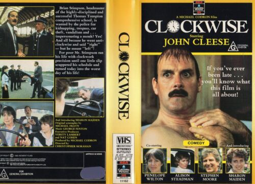 CLOCKWISE - John Cleese - VHS - PAL - NEW - Never played! - Original Oz release