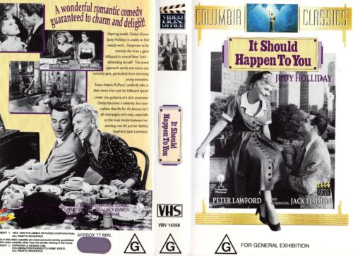 IT SHOULD HAPPEN TO YOU - VHS - PAL - NEW - Never played! - Original Oz release!