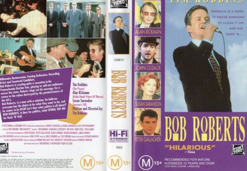 BOB ROBERTS - Tim Robbins -VHS - PAL - NEW - Never played! - Original Oz release