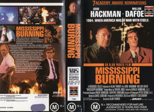 MISSISSIPPI BURNING - Hackman -VHS -PAL -NEW -Never played! -Original Oz release
