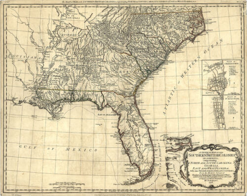 1776 Map American Revolution and Its Era British Colonies Indian Tribes Poster