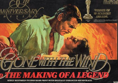 GONE WITH THE WIND-50th Anniversary-VHS-PAL-NEW-Never played!-Original Oz releas