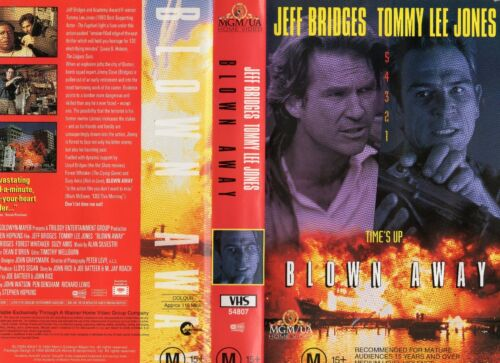 BLOWN AWAY - Tommy Lee Jones - VHS -PAL -NEW -Never played! -Original Oz release