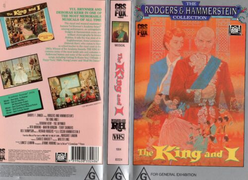 THE KING AND I - Yul Brynner - VHS -PAL -NEW -Never played! -Original Oz release