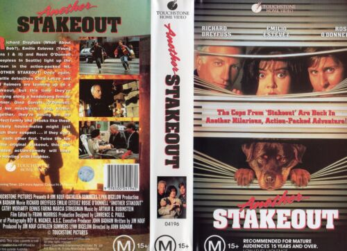 ANOTHER STAKEOUT- Dreyfuss -VHS - PAL -NEW - Never played! - Original Oz release