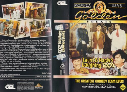 LAUREL & HARDY'S LAUGHING 20's-VHS -PAL -NEW -Never played! -Original Oz release