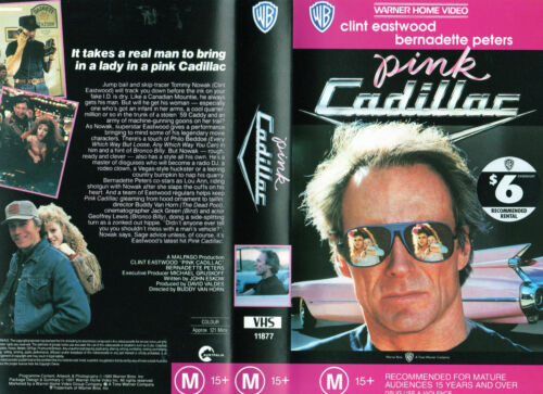 PINK CADILLAC -Eastwood & Peters -VHS -PAL -NEW -VERY RARE! -Original Oz release