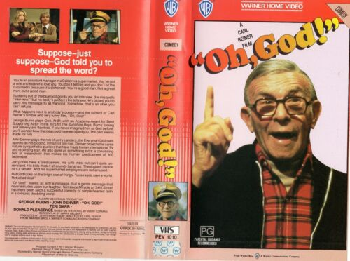 """OH! GOD!"" - George Burns -VHS - PAL - NEW - Never played! - Original Oz release"
