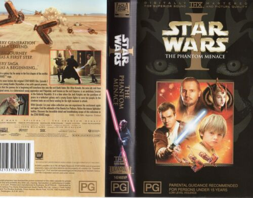 STAR WARS I - The Phantom Menace -VHS -PAL-NEW-Never played!-Original Oz release