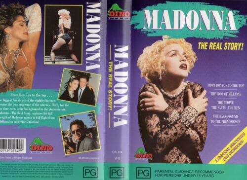 MADONNA - THE REAL STORY! - VHS - PAL- NEW - Never played - Original Oz release