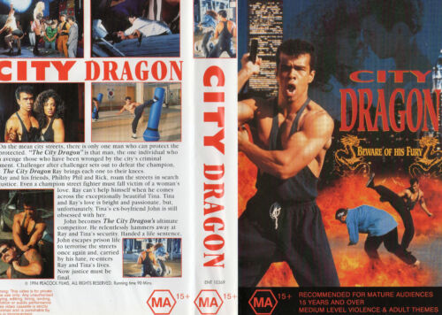 CITY DRAGON (aka WARRIOR DRAGON) - Stan Derain - VHS - PAL - NEW - Never played!