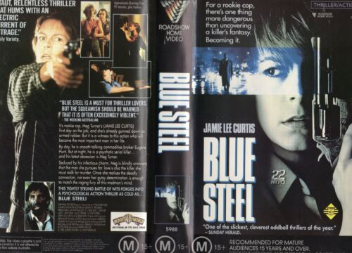 BLUE STEEL - Jamie Lee Curtis -VHS -PAL -NEW -Never played! -Original Oz release