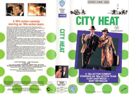 CITY HEAT -Eastwood & Reynolds -VHS -PAL -NEW -Never played!-Original Oz release