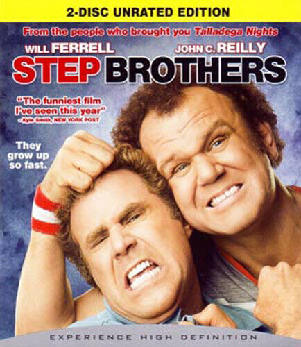 Step Brothers (2 Disc, Unrated Edition) BLU-RAY NEW