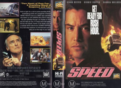 SPEED - Keanu Reeves - VHS - PAL - NEW - Never played! - Original Oz release