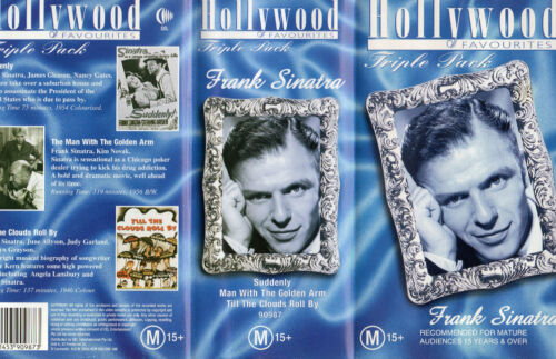 FRANK SINATRA - Triple Pack movie features - VHS - PAL - Box set - New & Sealed