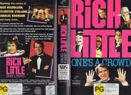 RICH LITTLE - ONES A CROWD -VHS - PAL -NEW - Never played! - Original Oz release