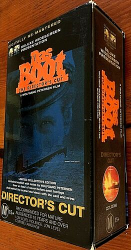 VHS BOX SET Das Boot Directors Cut DELUXE Widescreen Digitally Re-Mastered