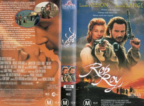 ROB ROY - Liam Neeson - VHS - PAL - NEW - Never played! - Original Oz release